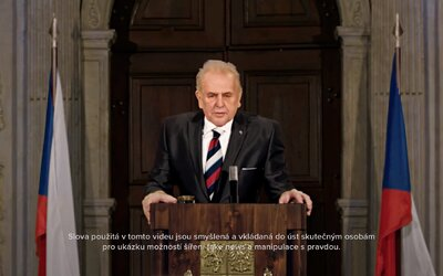Odolávejme vlivům slibujícím peníze a moc. Chraňme novináře, říká Miloš Zeman na fake videu