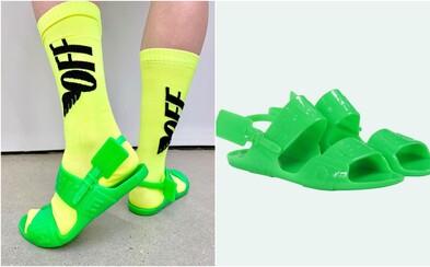 Off-White predstavilo neveľmi estetické želatínové sandále, za ktoré si pýta 200 dolárov