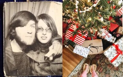 Ohrdnutý muž otvoril vianočný darček od bývalej frajerky až po 47 rokoch