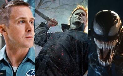 Október v kinách? Príchod Toma Hardyho ako Venoma, oscarová hudba, mrazivé thrillery, Gosling na Mesiaci či Mike Myers s nožom v ruke
