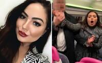 Opilá žena obtěžovala muže ve vlaku, jeden z nich to natočil na video