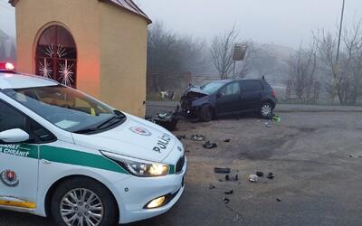 Opitého vodiča z okresu Trebišova zastavila až kaplnka. Nezvládol zákrutu a vyletel z cesty