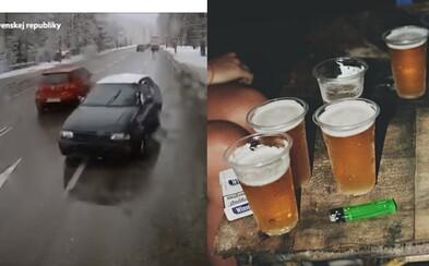 Opitý Slovák v Ružomberku šoféroval s 3 promile alkoholu. Stihol nabúrať v protismere, ale porozbíjať aj zaparkované autá