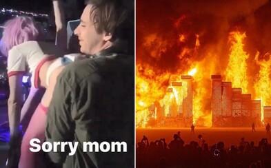 Orální sex na pódiu během festivalu Burning Man? Vítěz Grammy si na pódiu užíval s přítelkyní, která následně zveřejnila video