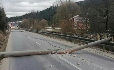 Orkán Júlia zhadzoval stromy aj elektrické vedenia. V Bratislave fúkal vietor nárazovou rýchlosťou 108 kilometrov za hodinu
