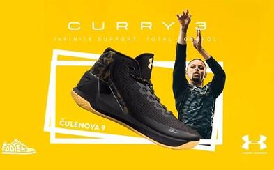 Osláv príchod tenisiek Under Armour Curry 3 na Slovensko priamo pod basketbalovým košom