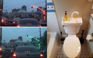 Osvetlené semafory či voda zrecyklovaná po každom umytí rúk. Perfektné nápady z ulíc a domovov, ktoré by mali byť aplikované všade