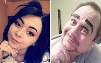 Otec si perfektně utahuje z fotek své dcery na sociálních sítích. I když se jí to nelíbí, už získal více fanoušků než ona