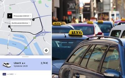 Otestovali sme štart UBERu v Bratislave. Na auto sme čakali dlho a prišiel po nás obyčajný taxík