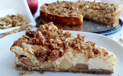 Ovsená torta s karamelizovanými jabĺčkami a vanilkovou plnkou (Recept)
