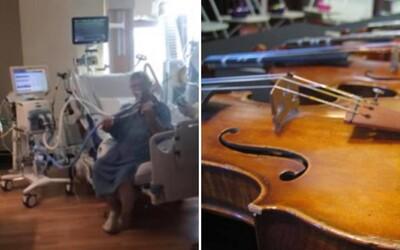 Pacient s Covidom zahral na husliach, aby poďakoval zdravotníkom. Nezabránila mu v tom ani pľúcna ventilácia
