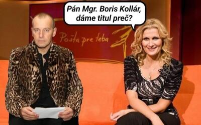 Pán Kollár, dáme titul Mgr. preč? Nad zásadným oznámením Borisa Kollára sa teraz smeje celé Slovensko