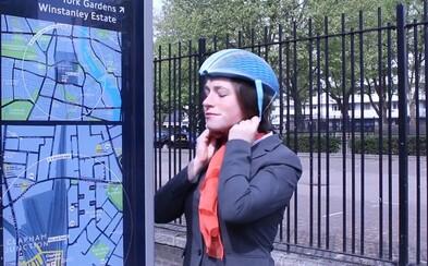 Papírová přilba pro cyklisty? Je recyklovatelná, lehká, levná a dokáže zachránit život