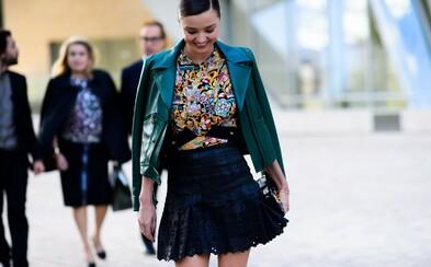 Pařížský speciál těch nejlepších Street Style záběrů, na nichž nechybí ani Miranda Kerr nebo Anna Wintour