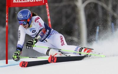 Peťa Vlhová napokon nevyhrala obrovský slalom v americkom Killingtone, zvíťazila Marta Bassinová