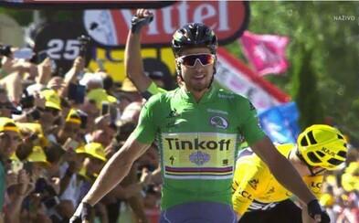 Peter Sagan po heroickom výkone vyhráva 11. etapu na Tour de France v zelenom drese!