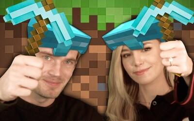 PewDiePie překonal hranici 100 milionů odběratelů. Minecraft si zahrál už i s manželkou Marziou
