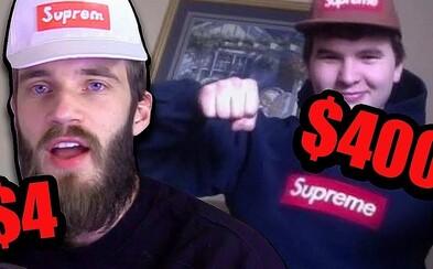 PewDiePie si robí srandu z ľudí nosiacich Supreme len kvôli značke. Všetko je veľmi predražené a dokonca vyrobil i napodobneninu