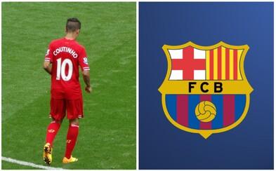 Philippe Coutinho směřuje z Liverpoolu do Barcelony za 160 milionů eur