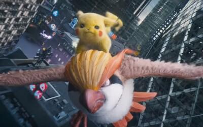Pikachu na Pidgeotovi naháňa Charizarda. Detective Pikachu dorazí do slovenských kín už budúci týždeň