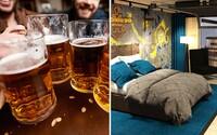 Pivo si načapuješ priamo v izbe a potom sa v ňom môžeš aj okúpať. Špeciálny pivný hotel sa zrejme čoskoro stane realitou