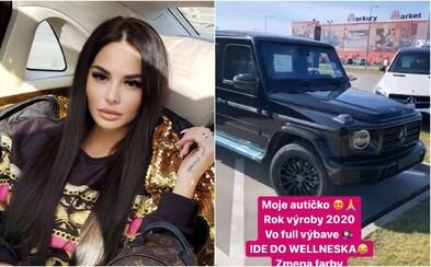 Plačková sa na Instagrame pochvalila novým Mercedesom za približne 200-tisíc eur. Nechala ho upraviť Brabusom