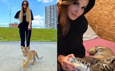 Plačková sa odfotila s mláďaťom tigra na vodítku, kritizujú ju ochrancovia zvierat. Ako viete, že som mu nepomohla, pýta sa