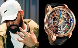 Plne funkčná ruleta v ciferníku hodiniek za necelých 600 000 €. Raper Drake si užíva plody svojej práce