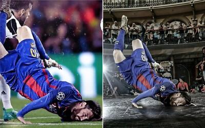 Po trpkém vypadnutí Barcelony z Ligy mistrů si lidé vtipnými fotomontážemi nelítostně podali i Messiho pád na hlavu