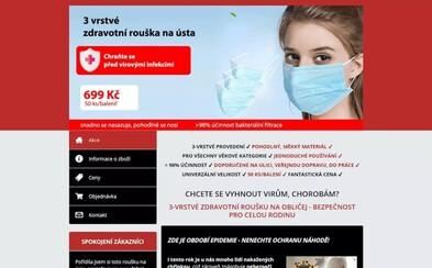 Podvodné e-shopy nabízely roušky Čechům. Skutečným cílem byla osobní data zákazníků
