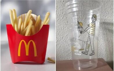 Poháre od McDonaldu vraj nechtiac zobrazujú dvojicu oddávajúcu sa sexuálnym radovánkam