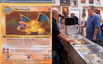 Pokémon karty za 400-tisíc dolárov? V známej šou chceli 10 Charizardov kúpiť, aj keď najskôr o ich hodnote nič netušili