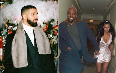 Pokračování beefu Kanye West vs. Drake: Více ochranky a zapojení Kim Kardashian a Ariany Grande