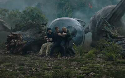 Pokračovanie Jurského sveta prichádza s ďalšou krátkou ukážkou, ktorá vnadí na zbesilý útek pred dinosaurami a výbuch sopky