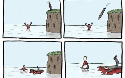 Pokud máš rád černý humor, tyto ilustrace si vychutnáš