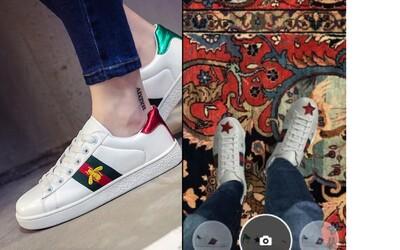 Pokud si Gucci tenisky nemůžeš dovolit, obuje ti je aplikace. Zjisti, jak bys v nich vypadal