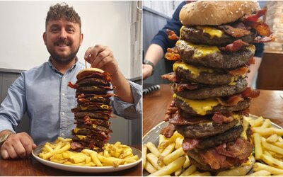 Pokud zemřeš při pojídání tohoto burgeru, restaurace ti proplatí náhrobní kámen