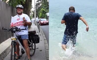 Polák brzy oslepne, ale předtím chtěl vidět Jaderské moře. Neměl peníze, tak sedl na kolo a ujel stovky kilometrů