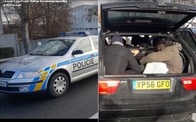Policajná nahánačka so šťastným koncom. V unikajúcom aute sa tlačilo 8 Iračanov, chytili ich až v Česku