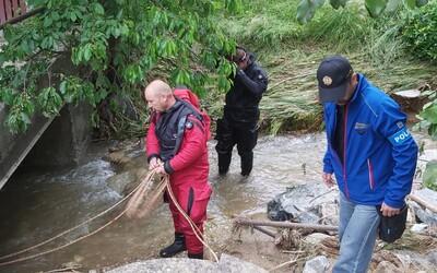 Policisté našli po 16 dnech tělo nezvěstné seniorky z Oskavy. Kvůli povodním se pod ní utrhl břeh