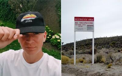 Policisté zatkli youtubera, který se snažil dostat do vojenské základny Area 51