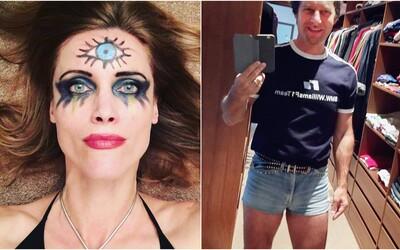 Polonahá Eva Máziková či Paľo Habera v mini šortkách. Toto sú najbizarnejšie instagramové profily známych Slovákov