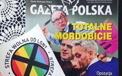 """Polský týdeník vydal homofobní samolepky s nápisem """"zóna bez LGBT"""". Největší tamní distributor odmítl časopis prodávat"""