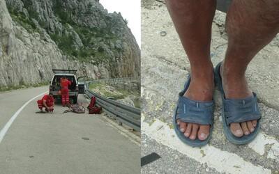 Polští turisté lezli na hory v Chorvatsku v pantoflích. Způsobili záchrannou akci, neboť nedokázali slézt dolů