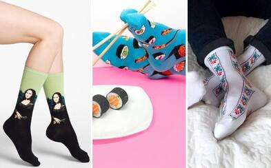 Ponožky nemusí být pouze nudné a jednobarevné. Podívej se na 5 nejlepších značek a vyzkoušej pestrobarevné vzory