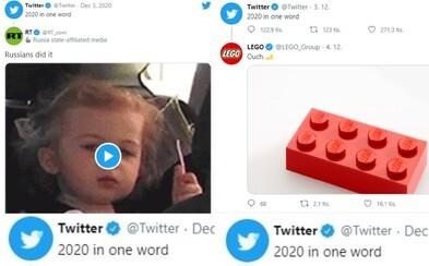 Popiš rok 2020 jedním slovem, vyzval Twitter. Podívej se, jak Microsoft, Lego nebo Adobe vtipně reagovali