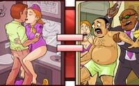 Porno často neodráží skutečnost. Bláznivé fantazie lidí se většinou nenaplňují