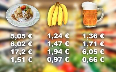 Porovnali sme ceny potravín, piva alebo nájmov na Slovensku, v Česku a vo svete. Toto je veľký prehľad vrátane platov
