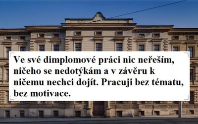 """""""Pos*ané umění"""" ho nezajímá. Upřímný student z Brna napsal originální diplomovou práci, dostal nejlepší hodnocení a návrh na cenu děkana"""