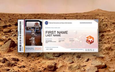 """Pošli své jméno na Mars a staň se """"vesmírným cestovatelem"""". Stačí vyplnit pár řádků"""